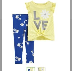 Carter's Toddler Girl 4T Floral Outfit Set NWT